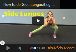 Side Lunges (Bacak Antrenmanı)